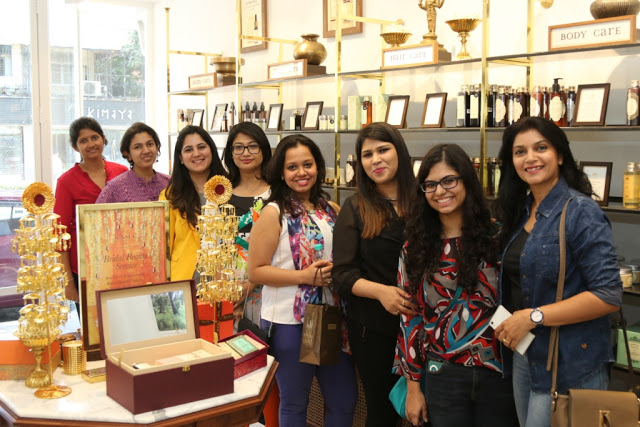 Kama Ayurveda_store images _with bloggers and Kama team