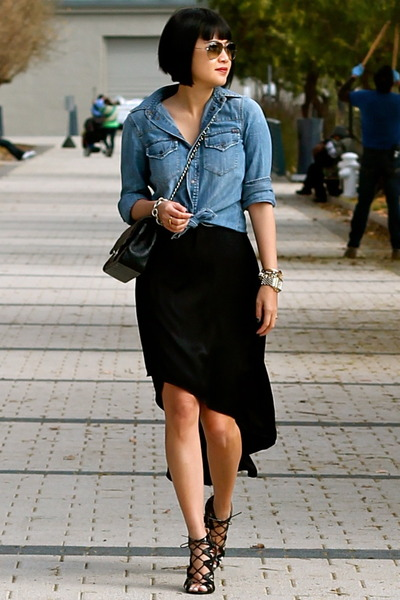 black-silk-bcbg-dress-denim-madewell-shirt-black-chanel-bag_400